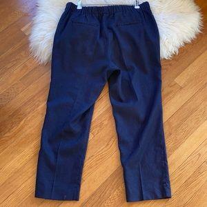 J Crew Stretch Linen High-Waisted Pants